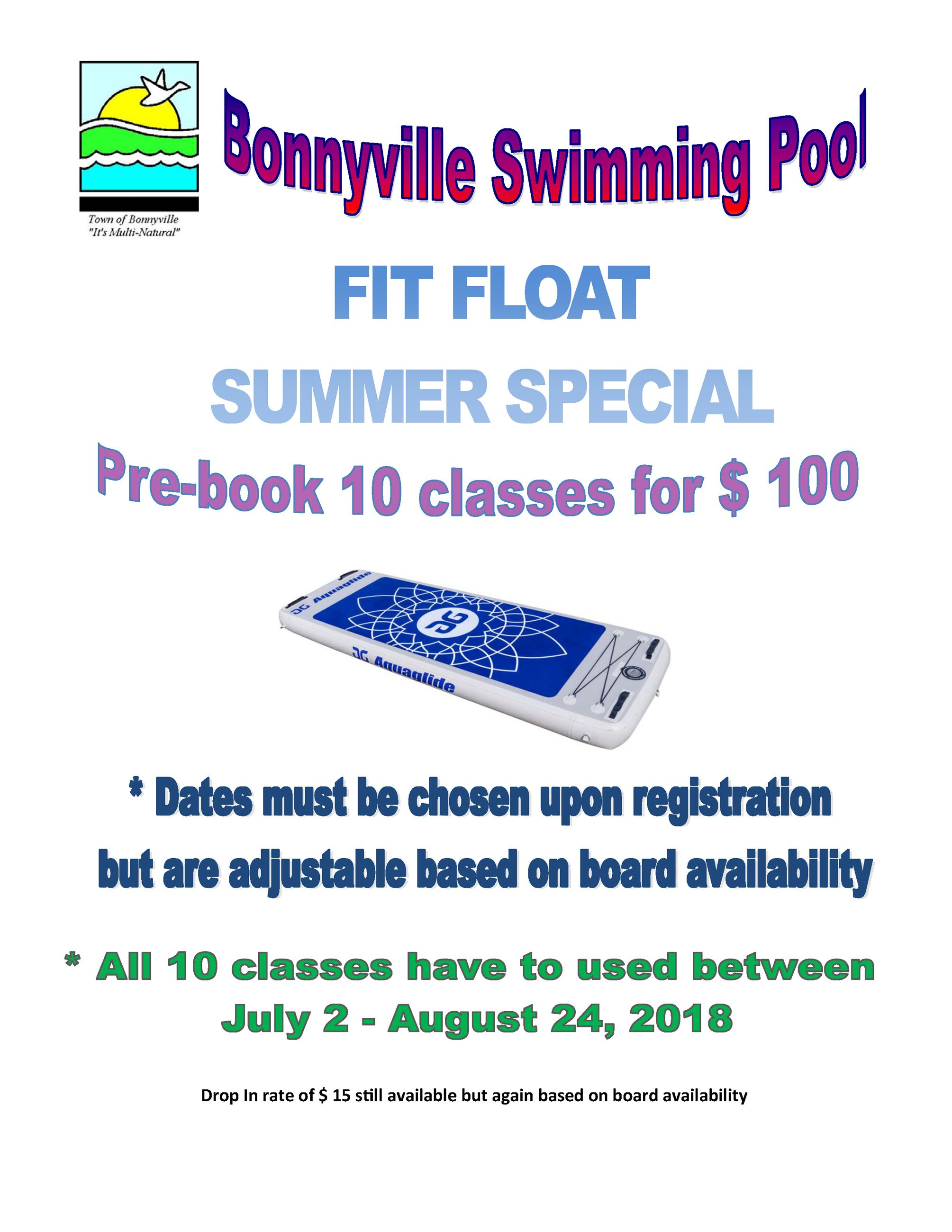 Fit Float Summer Special 10 pass