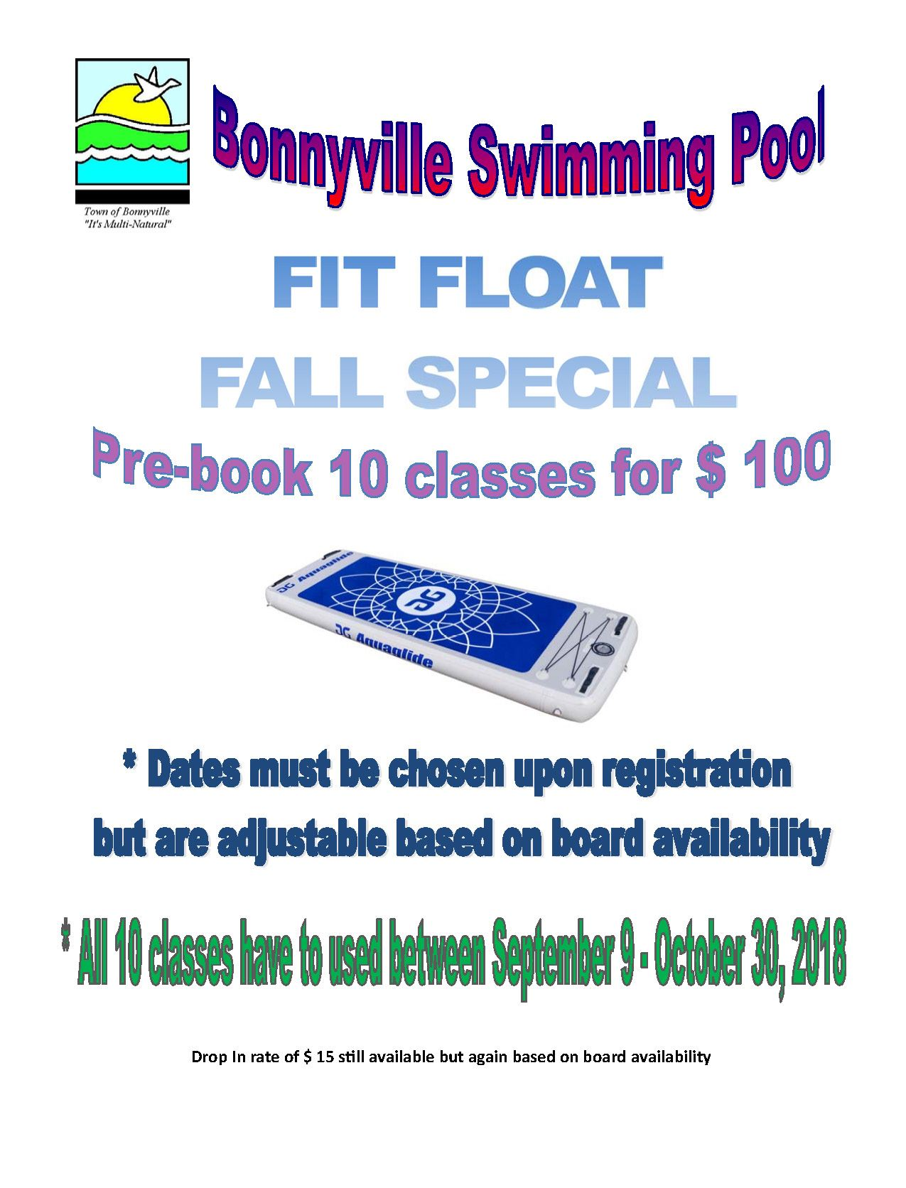 Fit Float Fall Special 10 pass