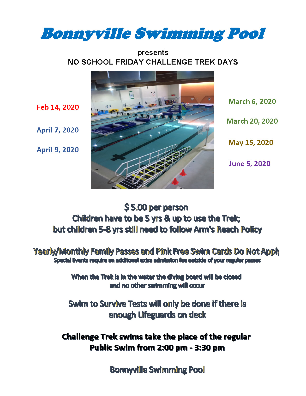 No School Friday Trek Days 2020
