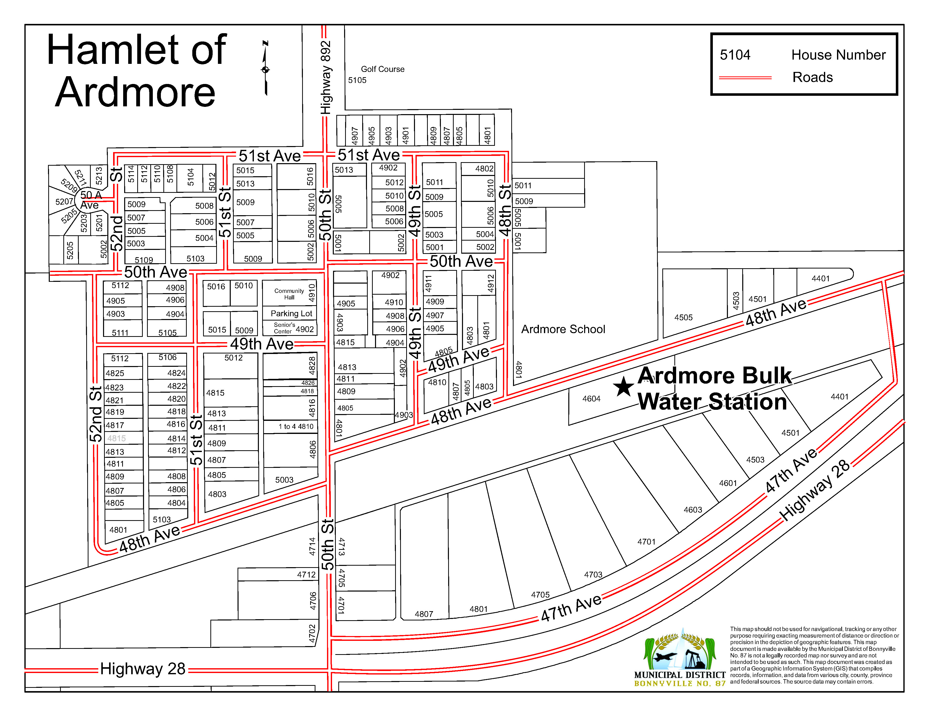 Sandbags Map 2020 - Ardmore