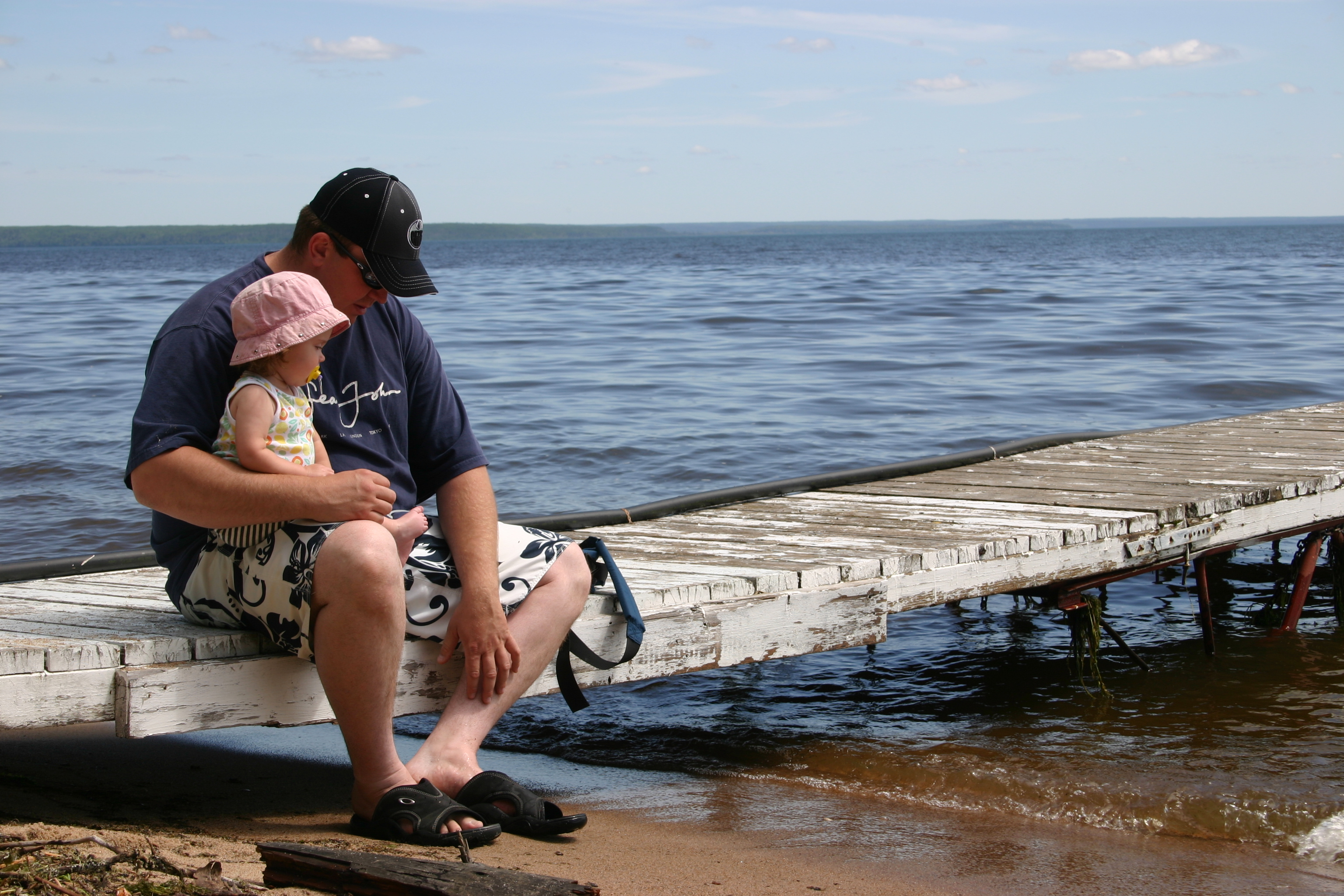 Father and Daughter on the Dock